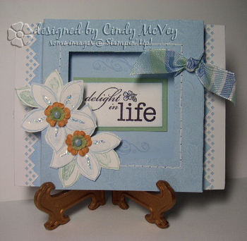 Delight in Life Shadow Box Card